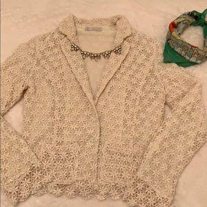 Hinge lace 2-button blazer size XS